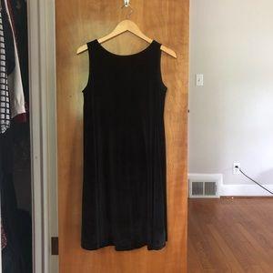 Limited Black Velvet Shift Dress